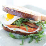 bacon and egg sandwich ATL text