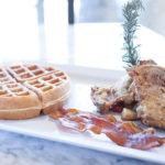 waffles and fried chicken ATL text